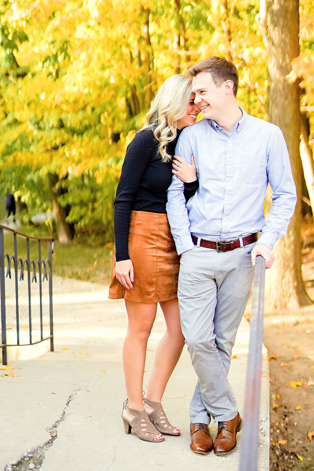 Sarah Evan Indianapolis Butler and Downtown Engagement 038