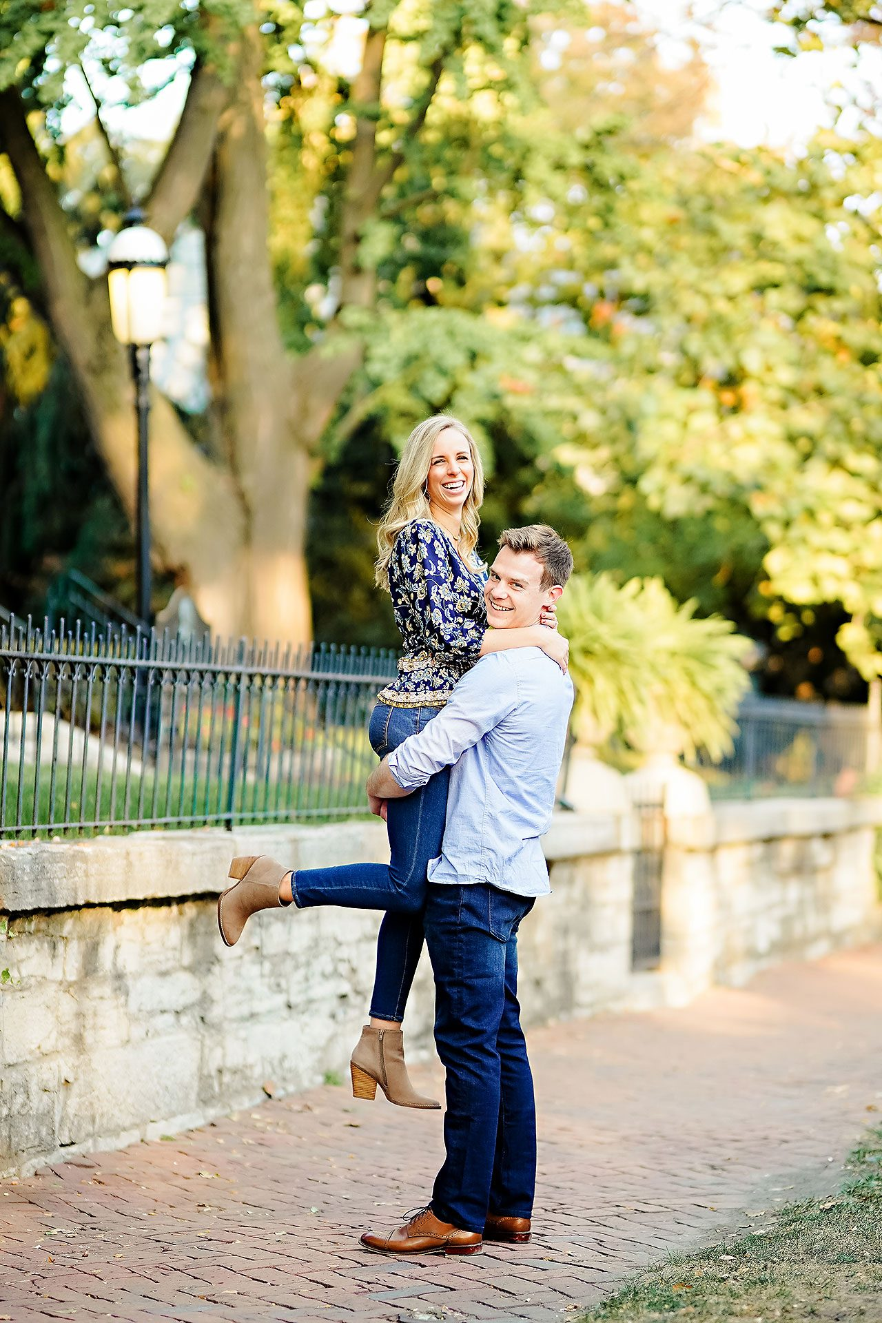 Sarah Evan Indianapolis Butler and Downtown Engagement 062