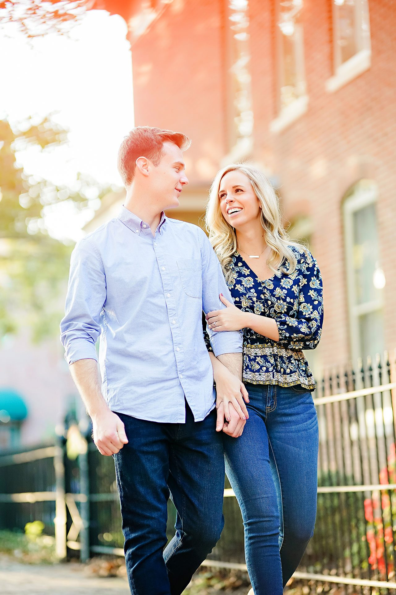 Sarah Evan Indianapolis Butler and Downtown Engagement 066