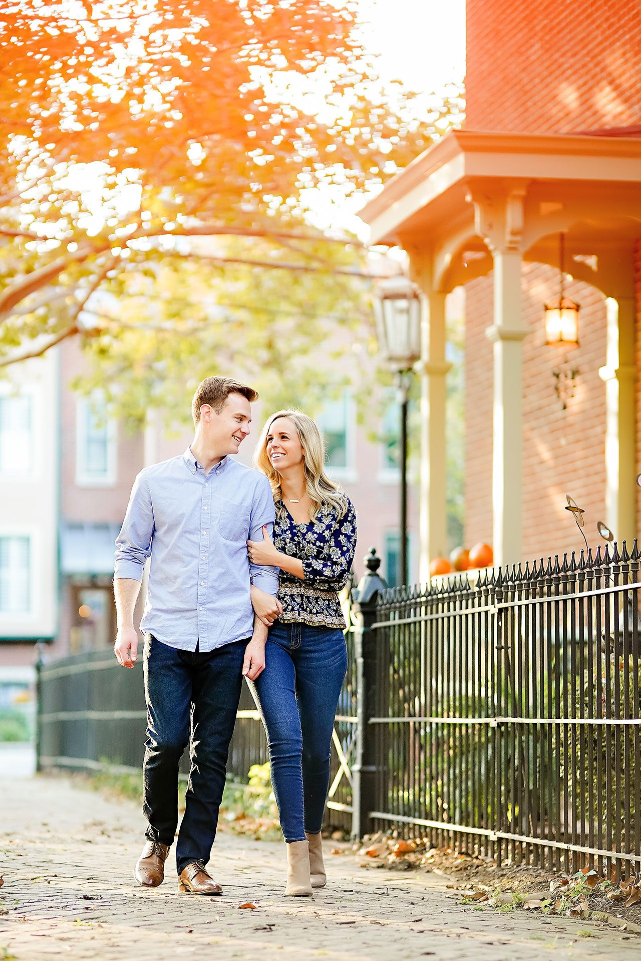 Sarah Evan Indianapolis Butler and Downtown Engagement 076