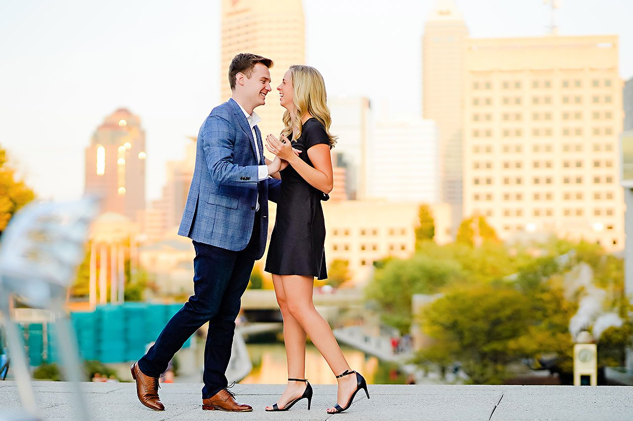 Sarah Evan Indianapolis Butler and Downtown Engagement 080