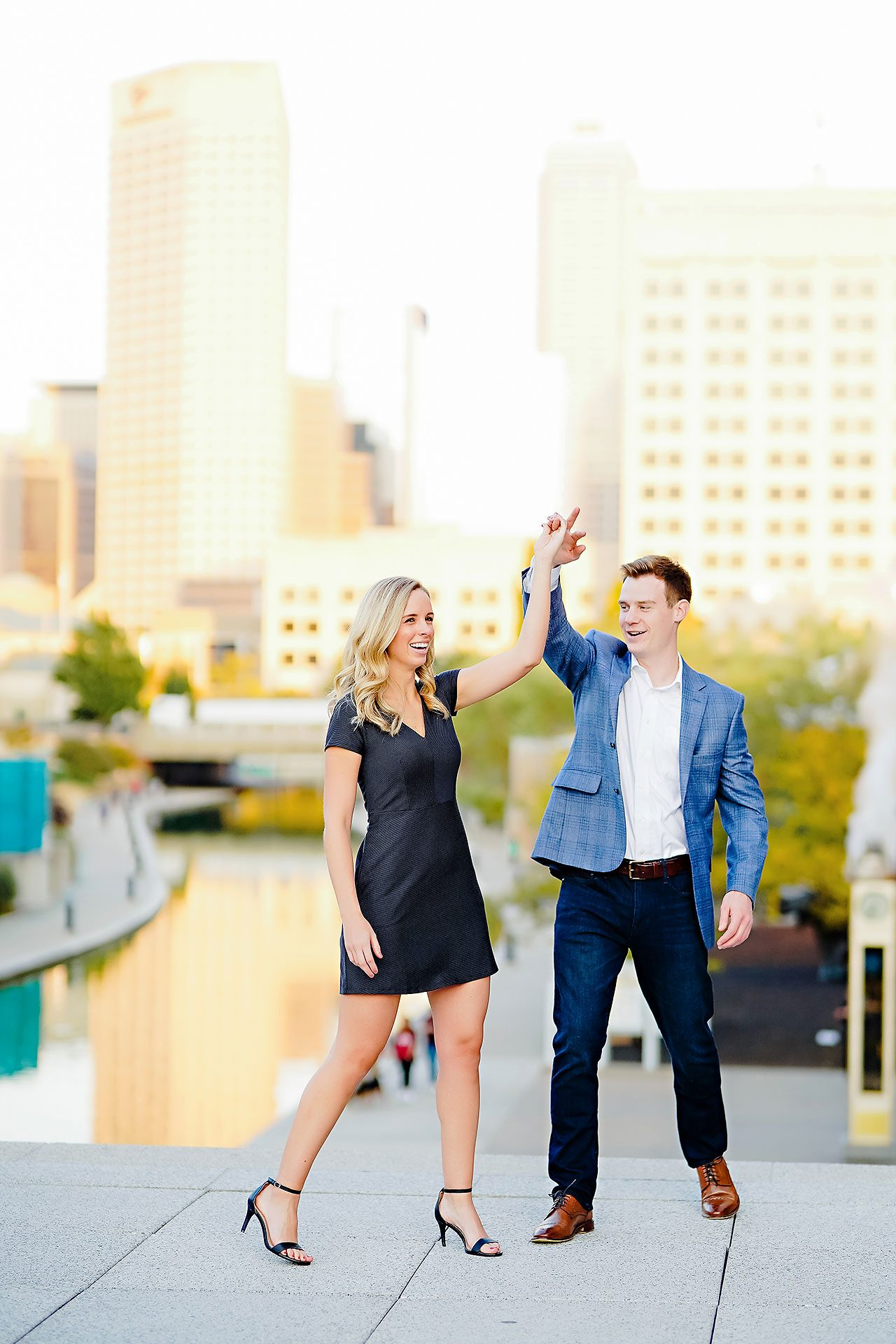 Sarah Evan Indianapolis Butler and Downtown Engagement 087