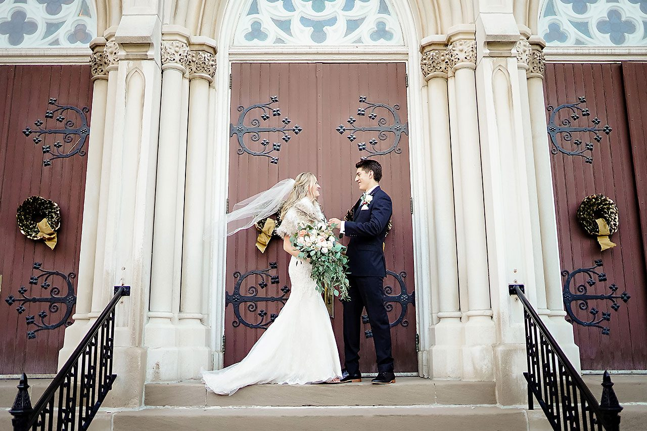 Courtney Areyan Sacred Heart and DAmore Indianapolis Wedding