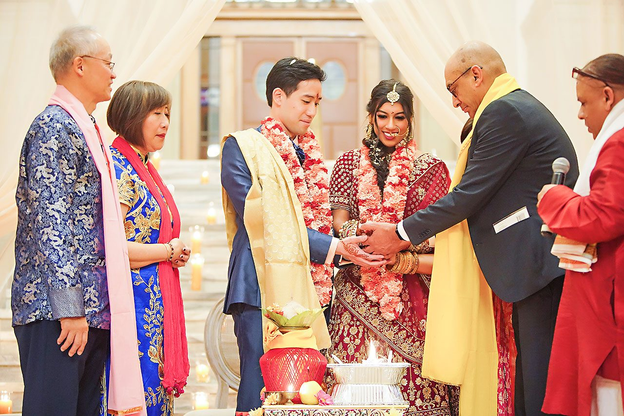 Ritika Jason Chinese Indian Fusion Wedding Ceremony 250