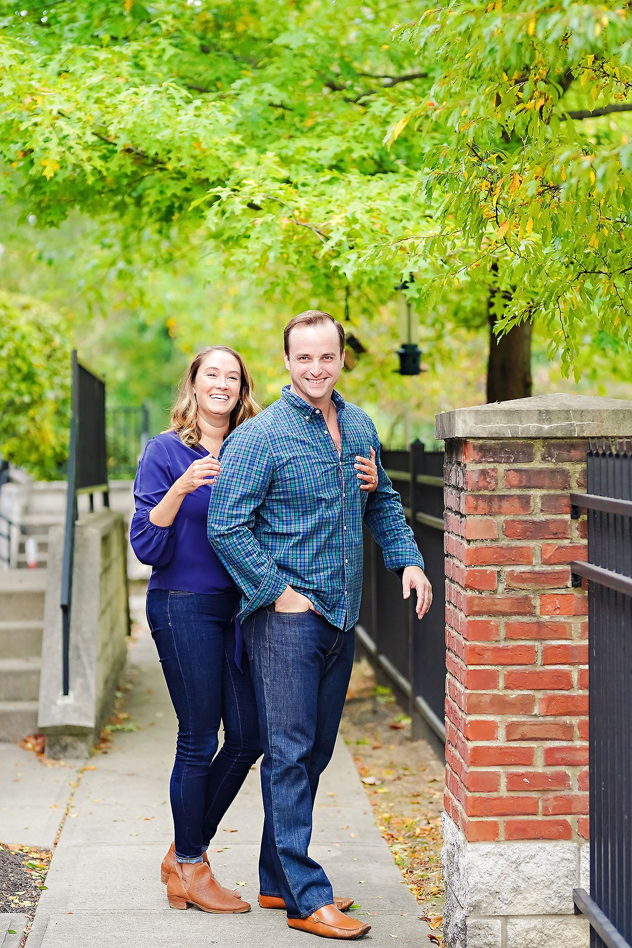 Maddie Zach Broad Ripple Engagement Session 003