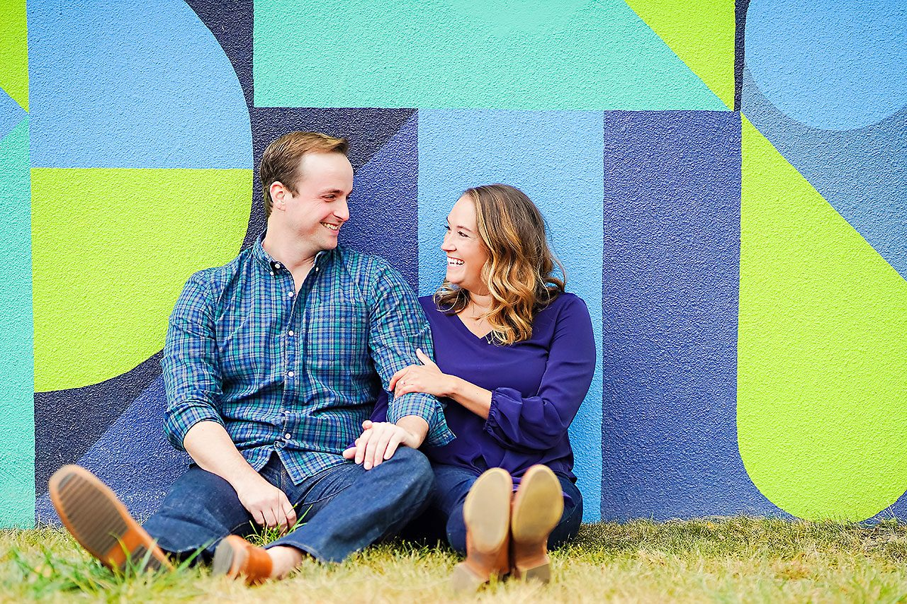 Maddie Zach Broad Ripple Engagement Session