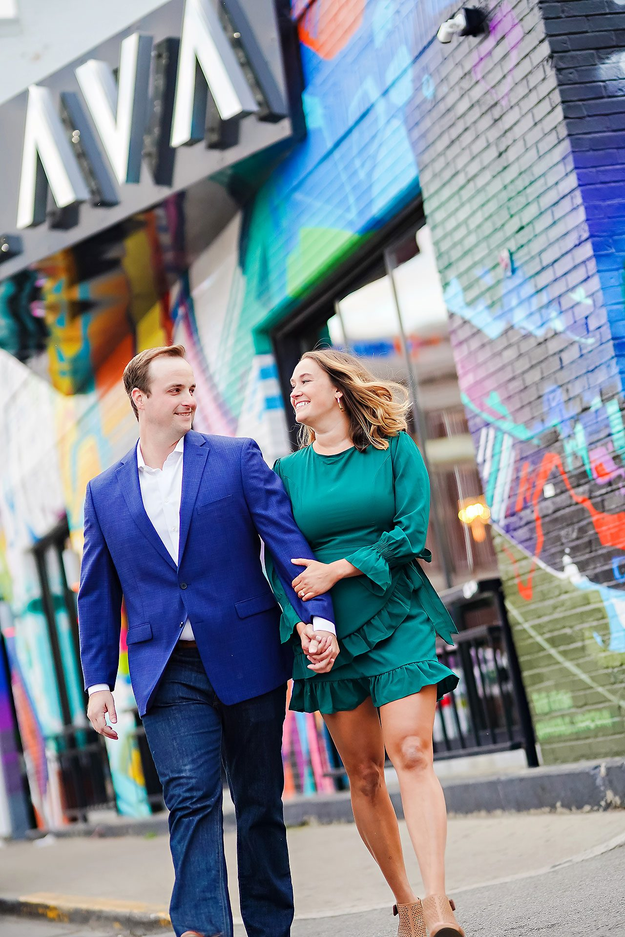 Maddie Zach Broad Ripple Engagement Session 077