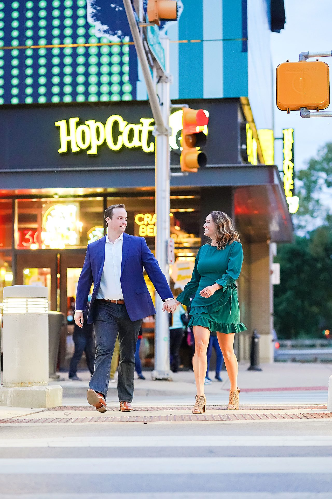 Maddie Zach Broad Ripple Engagement Session 107